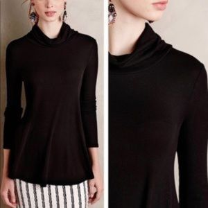 Anthropologie deletta ribbed Cowl Neck tunic